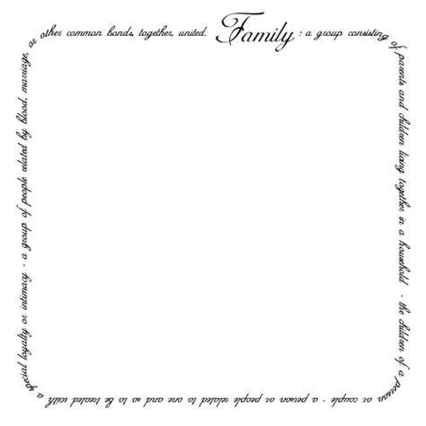 family defintion  border design family quotes words