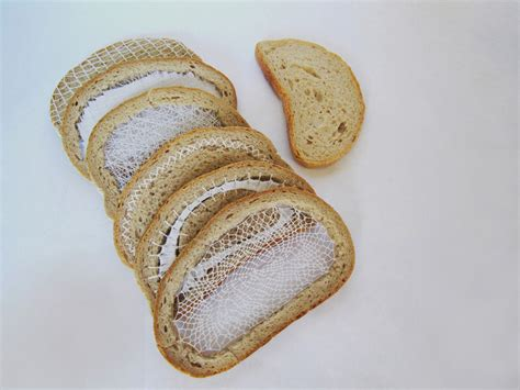 combiné cuisine embroidered bread slices by terezia krnacova combine food