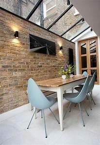 deco salle a manger avec mur brique 50 idees originales With deco murale salle a manger