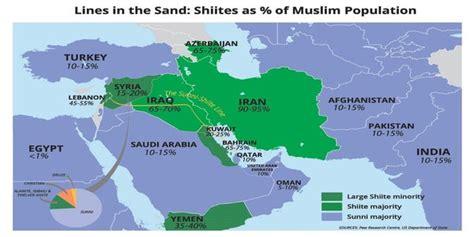 helpful map   shia sunni divide   middle east