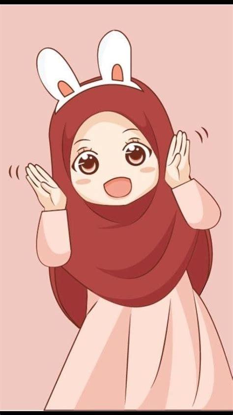 gambar kartun muslimah cantik lucu  bercadar hd