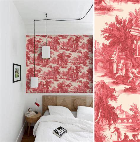 chambre toile de jouy papiers peints de marques inspiration décoration