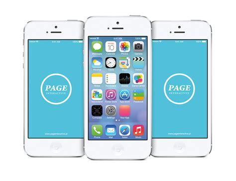 free on iphone iphone ios 7 home screen free psd mockup free mockup