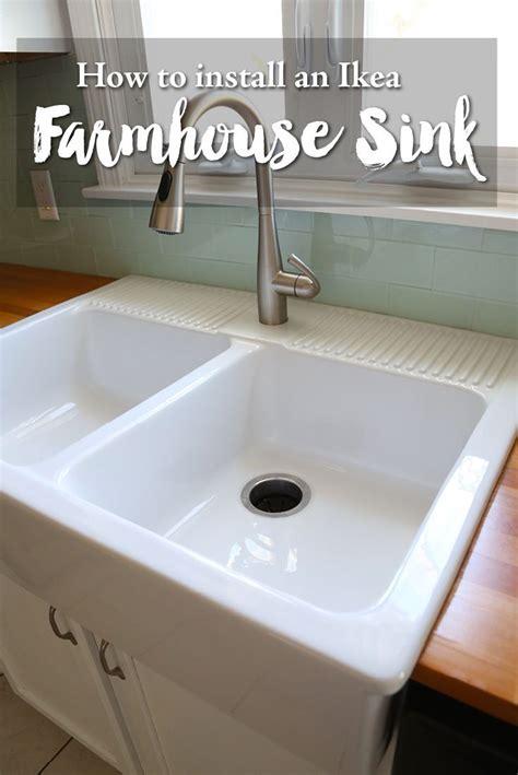installing  ikea farmhouse sink hometalk funky junk