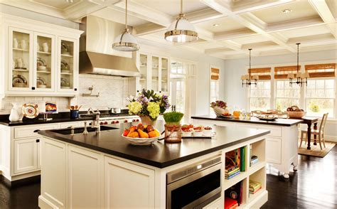 island tables for kitchen with chairs white kitchen island designs ideas with black countertop