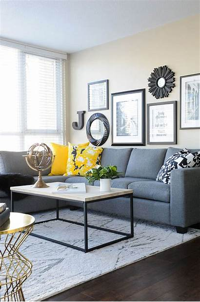 Living Decor Decorating Yellow Sectional Decoration Cushions