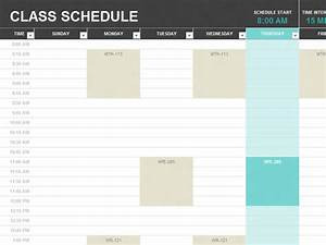 student schedule templates college pinterest With college school schedule template