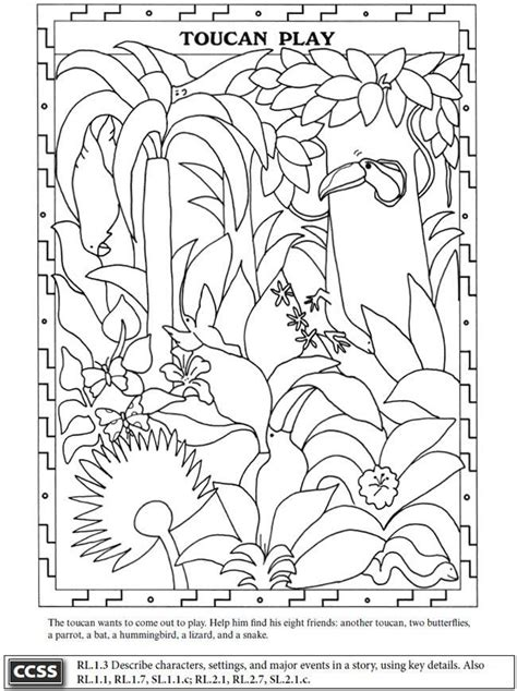 kapok tree coloring page coloring home