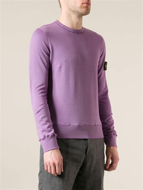 stone island classic sweater  pink purple purple