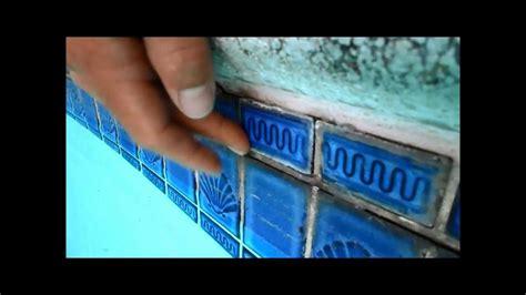 temporary pool tile repair a fix