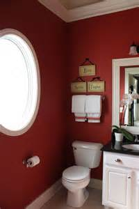 Small Bathroom Color Ideas with Red Walls