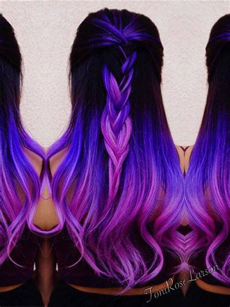 Mermaid Lila Ombre Remy Echthaar Clip In Extensions C045