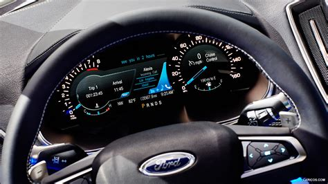 ford edge concept instrument cluster hd wallpaper