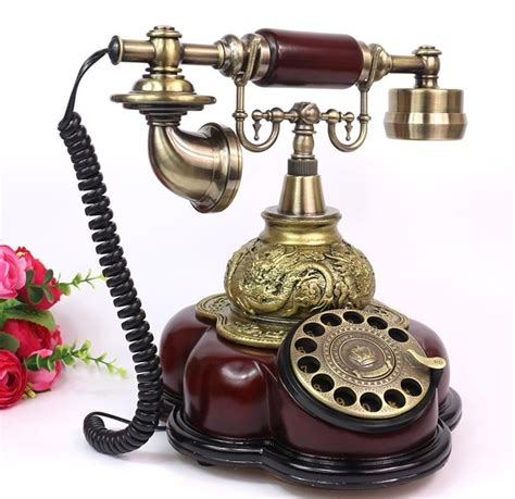 vintage home phone european style rotary antique corded telephone retro 3207