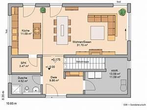 Zweites Haus Auf Eigenem Grundstück Bauen : bauhaus einfamilienhaus grundriss ~ Orissabook.com Haus und Dekorationen