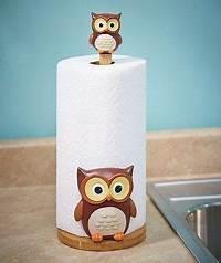 owl kitchen decor 3D Owl Kitchen Paper Towel Holder Bird Kitchen Decor ...