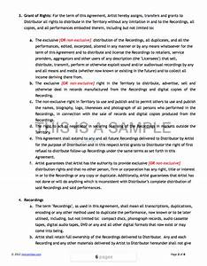 contract recording contract template With 360 deal contract template