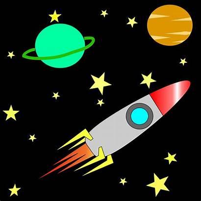 Space Rocket Stars Clipart Universe Planet Allenisd