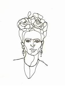 Frida Kahlo Wire Sculpture Portrait Home Decor Wire Wall
