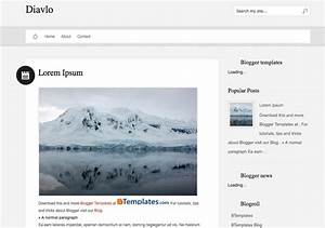 Diavlo Blogger Template 2014 Free Download
