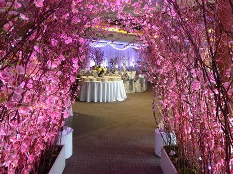 cherry blossom wedding decor greenscape