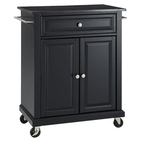 target kitchen island granite top portable kitchen cart crosley target