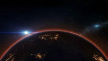 4k Space Earth Horizon Galaxy Night Wallpapers