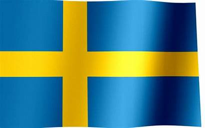 Flag Sweden Swedish Waving Animated Flags Yellow