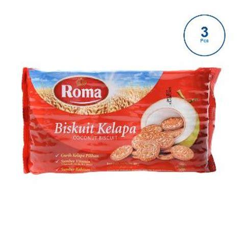 roma kelapa gr new jual roma kelapa biskuit 300 g 3 pcs 310675 harga kualitas terjamin blibli