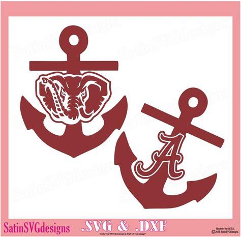 alabama crimson tide anchor roll tide design set  silhouette studio software svg files dxf