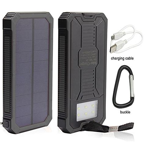 battery powered phone charger 12000mah solar charger portable solar powered phone