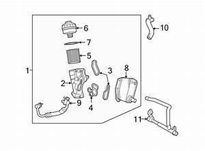 2012 Land Rover Lr2 Engine Oil Cooler  Liter  Cooling