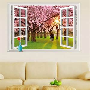 popular wall decal window fake buy cheap wall decal window With window wall decal