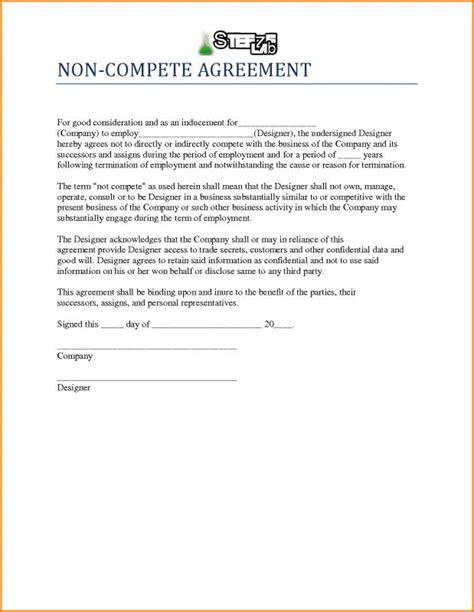 Non Compete Agreement Template Non Compete Agreement Template Template Business