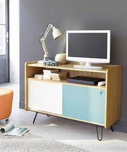Meuble Tv Vintage : meuble tv biblioth que design en 50 id es inspirantes ~ Teatrodelosmanantiales.com Idées de Décoration