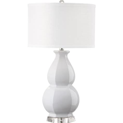 white table l shade safavieh juniper 30 25 in white table l with white