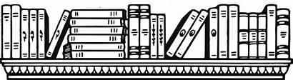 Shelf Clipart Library Bookshelf Books Transparent Svg