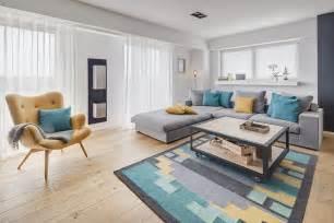 Grey And Yellow Chevron Rug by Scandinavian Design Hello Pretty Home