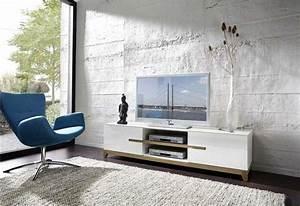 Banc Tv Design : banc tv design blanc riva atylia ~ Teatrodelosmanantiales.com Idées de Décoration