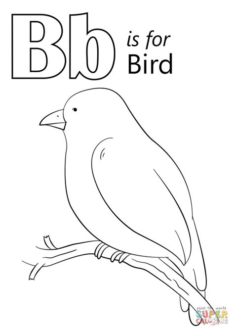 letter    bird coloring page  letter  category
