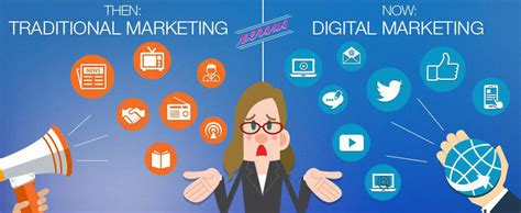 digital and marketing digital marketing and traditional marketing the difference