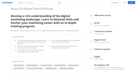coursera digital marketing course mastertrack coursera s newest micro credential class