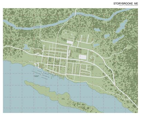 Map Storybrooke Once Upon Time