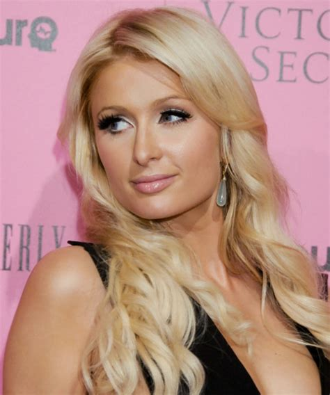 paris hilton long wavy casual hairstyle light honey