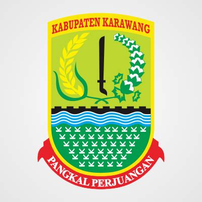 logo kabupaten karawang vector cdr file coreldraw