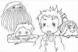 Coloring Castle Moving Pages Howl Ghibli Studio Howls Dani Sunshine Calcifer Colouring Away Spirited Painting Deviantart Anime Alt Patterns Miyazaki sketch template