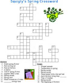 Printable Spring Crossword Puzzle