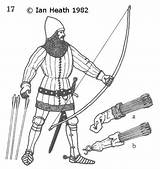 Archer Medieval English 14th Century Drawing Longbowman Mounted Armour Archery Getdrawings sketch template