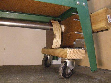 lathe retractable wheels wood lathe casters diy