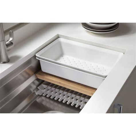 single kitchen sink accessories kohler prolific 33 quot x 17 3 4 quot x 11 quot undermount single bowl